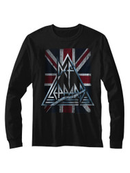 Def Leppard 1980's Heavy Hair Metal Band Jacked Up Adult Long Sleeve T-Shirt Tee