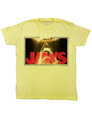 Jaws 1970 Shark Thriller Spielberg Movie Attack at Surface Adult T-Shirt Tee