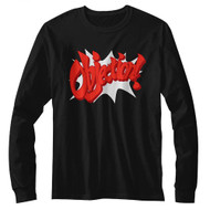 Ace Attorney Witness Defense Video Game Objection Adult Long Sleeve T-Shirt Tee