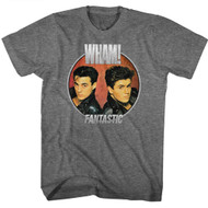 Wham English Music Duo Fantastic Circle Graphite Heather Adult T-Shirt Tee
