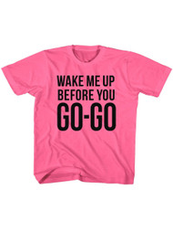 Wham English Music Duo Go Go Hot Pink Toddler Little Boys T-Shirt Tee