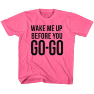 Wham English Music Duo Go Go Hot Pink Youth Big Boys T-Shirt Tee