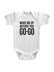 Wham English Music Duo Go Go Solid Infant Baby Romper Creeper Snapsuit