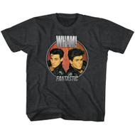 Wham English Music Duo Fantastic Circle Blk Heather Youth Big Boys T-Shirt