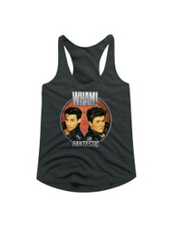 Wham English Music Duo Fantastic Circle Gray Heather Womens Racerback Tank Top