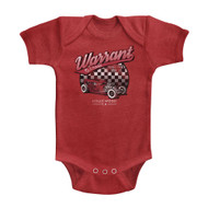 Warrant American Glam Metal Band Garage Vintage Red Infant Baby Romper Snapsuit