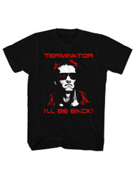 Terminator 1984 SciFi Action Movie Arnold I'll Be Back! Black Adult Mens T-Shirt