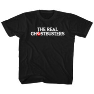 The Real Ghostbusters Animated TV Series Text Logo Little Boys T-Shirt Tee