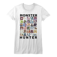 Monster Hunter American Classics Collage Let's Hunt Video Game Junior T-Shirt
