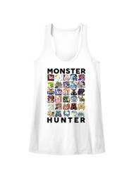 Monster Hunter Collage Let's Hunt Capcom Video Game Womens Tank Top