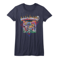 Ghosts N Goblins Video Arcade Game Zombies Monsters Fire Juniors T-Shirt Tee