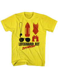 Baywatch 90's Drama Beach Patrol Lifeguard Kit Adult T-Shirt Tee