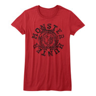 Monster Hunters Mh Circle Capcom Video Role Playing Quest Game Junior T-Shirt
