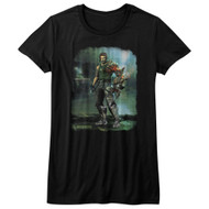 Bionic Commando Arcade Video Game Mechanical Robot Damaged Road Juniors T-Shirt