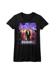Dead Rising 2 Survival Horror Video Game Zombie Film Purple Juniors T-Shirt