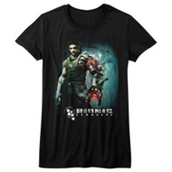 Bionic Commando Arcade Video Game Mechanical Robot Steam Arm Juniors T-Shirt Tee