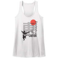 Hai Karate Aftershave Fragrance Use With Caution White Chop Womens Tank Top Tee