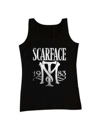 Scarface 1980's Gangster Crime Movie Al Pacino as Tony Montana Adult Black Tank