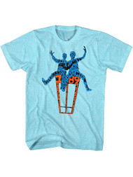 Bill & Ted's Excellent Adventure Teen Movie Adult Blue T-Shirt Tee