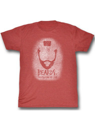 Mr. T Beards Red Adult T-Shirt Tee