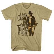 John Wayne Hollywood Icon Actor What A Man Ought To Do Adult Mens T-Shirt Tee