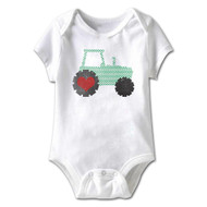 American Classics Tractor Infant Baby Snapsuit Romper