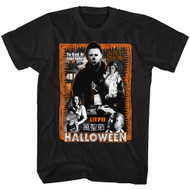 Halloween 70s Horror Movie Michael Myers 1978 The Night He Came Home Graphic Adult Short Sleeve T-Shirt Graphic Tee