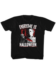 Halloween 70s Horror Movie Michael Myers Everyday is Halloween Graphic Toddler Short Sleeve T-Shirt Graphic Tee