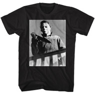 Halloween 70s Horror Movie Michael Myers Graphic Adult Short Sleeve T-Shirt Graphic Tee