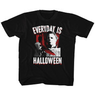Halloween 70s Horror Movie Michael Myers Everyday is Halloween Graphic Youth Short Sleeve T-Shirt Graphic Tee