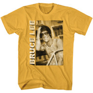 Bruce Lee Actor & Martial Artist Casual Smiling Adult Short Sleeve T-Shirt Graphic Tee
