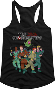 Ghostbusters 80s Movie The Whole Crew Image Ladies Racerback Tank Top