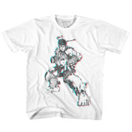 Street Fighter SF Glitch sketch Youth Short Sleeve Video Game T-Shirt Graphic Tee