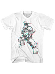 Street Fighter SF Glitch sketch Adult Short Sleeve Video Game T-Shirt Graphic Tee