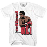 Muhammad Ali American Heavyweight Champion Boxer The Greatest Front & Back Print Adult Short Sleeve T-Shirt Graphic Tee