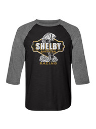 Shelby Cobra snake American racing Sports race Car Adult 3/4 sleeve T-shirt Graphic Tee