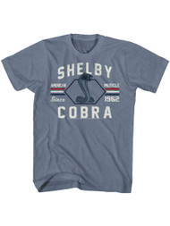 Shelby Cobra snake American muscle Sports race Car Adult T-shirt Graphic Tee