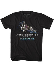 Monster Hunter Gaming Ice Gang Image Adult Short Sleeve T-Shirt Graphic Tee