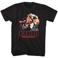 Rambo Action Film First Blood Part II Image Adult Short Sleeve T-Shirt Graphic Tee