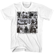 Breakfast Club 80s Iconic Movie Photo Collage Image Adult Short Sleeve T-Shirt Graphic Tee