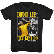 Bruce Lee Actor & Martial Artist Defeat is a State of Mind Adult Short Sleeve T-Shirt Graphic Tee