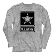 United States Army U.S. Army Star Image Adult Long Sleeve T-Shirt Graphic Tee