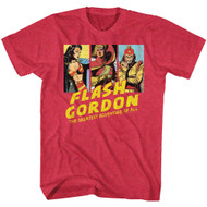 Flash Gordon Iconic Cartoon The Greatest Adventure of All & Character Images Adult Short Sleeve T-Shirt Graphic Tee