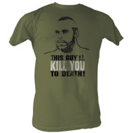 Rocky MGM Movie Kill You To Death Green Adult T-Shirt Tee