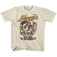 Poison 80s Hair Band Look What the Cat Dragged In Youth Short Sleeve T-Shirt Graphic Tee
