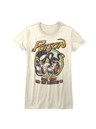 Poison 80s Hair Band Look What the Cat Dragged In Juniors Short Sleeve T-Shirt Graphic Tee