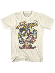 Poison 80s Hair Band Look What the Cat Dragged In Adult Short Sleeve T-Shirt Graphic Tee