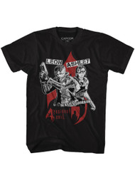 Resident Evil Gaming Leon Ashley Survival Horror Adult Short Sleeve T-Shirt Graphic Tee