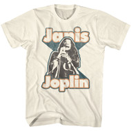 Janis Joplin American Rock Artist Janis Singing Image Adult Short Sleeve T-Shirt Graphic Tee