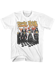 Cheap Trick American Rock Band Biketrick Band on Bikes Adult Short Sleeve T-Shirt Graphic Tee